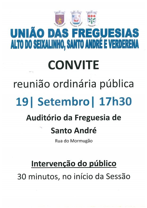 Reunião de Junta Ordinária Pública