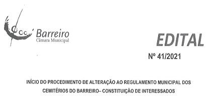 Alteração a Regulamento Municipal